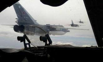 Ρωσικά μαχητικά βομβάρδισαν θέσεις φιλότουρκων τζιχαντιστών στην Ιντλίμπ