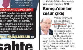 Πρωτοσέλιδο ο Φίλης στην τουρκική Sabah – Πρέπει να παραιτηθεί!