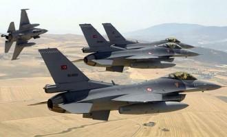 Tουρκικά F -16 πέταξαν πάνω από τέσσερα ελληνικά νησιά