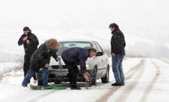 Που χιόνισε και διακόπηκε η κυκλοφορία σε Βόρεια και Κεντρική Ελλάδα, σε Πελοπόννησο και Κρήτη