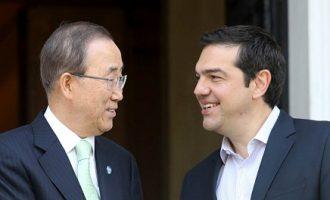 Τσίπρας σε Μπαν Κι Μουν: Το Κυπριακό πρόβλημα εισβολής και παράνομης κατοχής