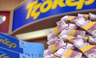 ΤΖΟΚΕΡ: Ένα «χρυσό» δελτίο κερδίζει 7,7 εκατ. ευρώ