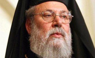 Αρχιεπίσκοπος Κύπρου κατά Ερντογάν: Στόχος η κατάληψη και τουρκοποίηση ολόκληρου του νησιού