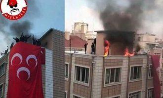 Ολονύχτιο πογκρόμ Κούρδων στην Τουρκία – Εθνοϊσλαμιστές έκαιγαν γραφεία του HDP (φωτο)