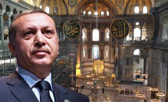 Ποια συμβολική ημέρα θα μετατρέψει ο Ερντογάν την Αγία Σοφία σε τζαμί