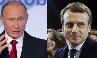 Τι είπε ο Πούτιν στον Μακρόν για τις εξελίξεις στη Συρία