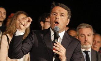 Ρέντσι: Δεν θα συγκυβερνήσουμε με τους εξτρεμιστές