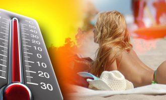 Καιρός: Υψηλές οι θερμοκρασίες και τη Δευτέρα