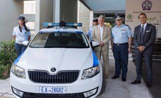 Περιπολικό φυσικού αερίου δώρισε η ΔΕΠΑ στην Ελληνική Αστυνομία