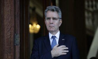 Ποιο μήνυμα στέλνει ο Αμερικανός πρέσβης Πάιατ για την απελευθέρωση των δύο στρατιωτικών