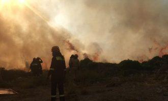 Ολονύχτια μάχη με τις φλόγες στα Κύθηρα – Σε κατάσταση έκτακτης ανάγκης το νησί