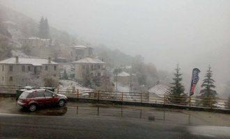 Χιόνια στα ορεινά της Κοζάνης, της Φλώρινας και της Καστοριάς (φωτο+βίντεο)