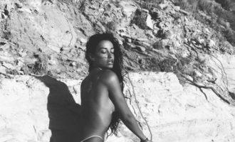 """Με ημίγυμνες πόζες """"κόλαση"""" αποχαιρετά το καλοκαίρι η Ελένη Φουρέιρα (φωτο)"""