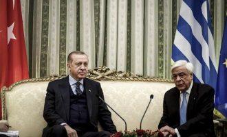 Παυλόπουλος: «Δεν υπάρχει τουρκική αλλά μουσουλμανική μειονότητα» – Ερντογάν: «Σωστό, αλλά…»