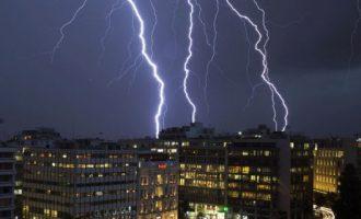 ΕΜΥ: Καταιγίδα στην Αττική το απόγευμα της Παρασκευής