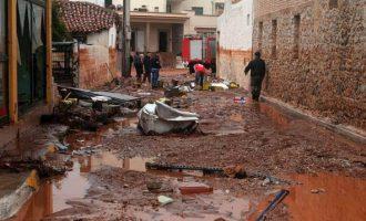 Βρέθηκε ανθρώπινος σκελετός στη Μάνδρα ένα χρόνο μετά τις φονικές πλημμύρες (βίντεο)