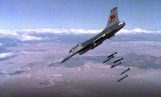 45 κουρδικούς στόχους έπληξαν τουρκικά αεροπλάνα στην Εφρίν