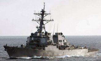 Το αμερικανικό «USS Ross» μπήκε ανάμεσα στη φρεγάτα «Θεμιστοκλής» και στην τουρκική «Barbaros»