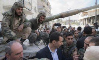 Τη «γραμμή πυρός» στην Ανατολική Γούτα επισκέφθηκε ο Μπασάρ Αλ Άσαντ