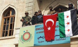 Οι Τούρκοι πήραν δίχως μάχη την Εφρίν – Κούρδοι αντάρτες και άμαχοι εκκένωσαν την πόλη