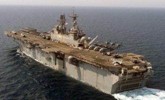 Στη Λεμεσό το αεροπλανοφόρο-μαμούθ «Iwo Jima» με τους 2.500 Αμερικανούς πεζοναύτες