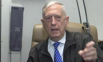 Στα Σκόπια ο υπουργός Άμυνας των ΗΠΑ Τζέιμς Μάτις – Ανησυχεί για ρωσική εμπλοκή στο δημοψήφισμα
