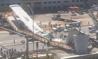 Κατέρρευσε πεζογέφυρα στο Πανεπιστήμιο του Μαϊάμι – Φόβοι για πολλούς νεκρούς