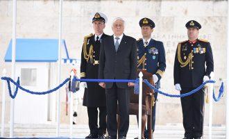 Παυλόπουλος: Θα υπερασπιζόμαστε πάντοτε το έδαφος και την κυριαρχία της πατρίδας μας και της Ε.Ε.