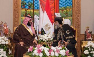 Πρωτοφανές! Ο Διάδοχος της Σαουδικής Αραβίας εισήλθε στον Άγιο Μάρκο για να συναντηθεί με τον Κόπτη Πατριάρχη