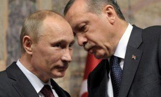 Ερντογάν και Πούτιν συμφώνησαν σε πολιτική διευθέτηση της συριακής κρίσης