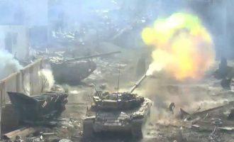 Ο συριακός στρατός βομβαρδίζει το Ισλαμικό Κράτος σε νότιο προάστιο της Δαμασκού