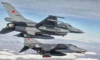 Τουρκική προκλητικότητα: 59 παραβιάσεις στο Αιγαίο από 10 τουρκικά μαχητικά