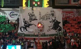 Προκαλούν οι Τούρκοι: Κρέμασαν πανό με τον Μωάμεθ και τον Κεμάλ στο Καρσίγιακα-ΠΑΟΚ
