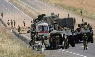 Κούρδοι αντάρτες (PKK) χτύπησαν με όλμους και αντιαρματικά τουρκική φάλαγγα