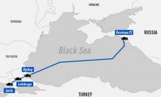 Gazprom: Έτοιμος ο αγωγός Turkish Stream κατά 50%