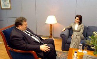 """Πώς """"στόλισε"""" η Γιάννα Αγγελοπούλου τον Βενιζέλο: Είναι κομπλεξικός επειδή είναι χοντρός"""