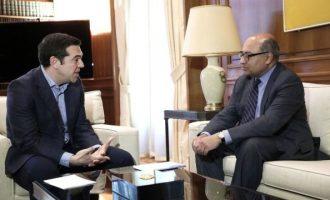 """Συνάντηση Τσίπρα με τον πρόεδρο της EBRD – """"Κλείδωσαν"""" επενδύσεις 2,5 δισ. ευρώ για την Ελλάδα"""