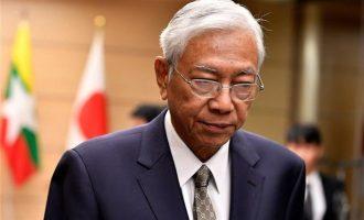 Ο πρόεδρος Χτιν Κιάου της Μιανμάρ παραιτήθηκε αιφνιδιαστικά