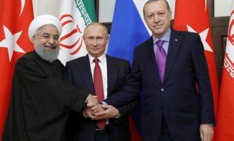 Άλλα συμφωνεί ο Πούτιν με τον Ερντογάν και άλλα με τον Ροχανί – Συμμαχία «χαλασμένο τηλέφωνο»