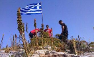 Ο Γιλντιρίμ ισχυρίζεται ότι Τούρκοι ανέβηκαν στη βραχονησίδα Μικρός Ανθρωποφάς και πήραν την ελληνική σημαία