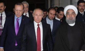 Ο Πούτιν τα λέει με Ερντογάν και Ροχανί στην Άγκυρα για το συριακό