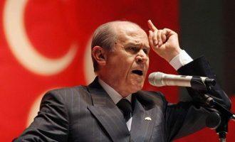 """""""Βόμβα"""" από Μπαχτσελί – Ζητάει πρόωρες εκλογές στην Τουρκία"""