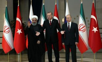 Πούτιν, Ερντογάν και Ροχανί συμφώνησαν για κοινό μέτωπο στη Συρία