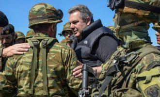 Μήνυμα Καμμένου: Έτοιμοι για κάθε απειλή – Οι Έλληνες ενωμένοι θα τους τσακίσουμε