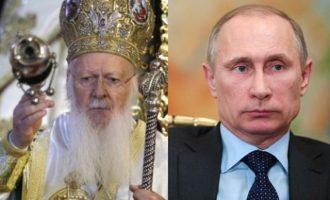 Τι είπε ο Πούτιν με τον Οικουμενικό Πατριάρχη Βαρθολομαίο