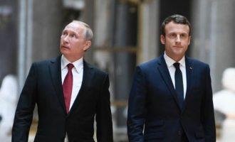 Τηλεφωνική επικοινωνία για τη συριακή κρίση είχαν Μακρόν και Πούτιν