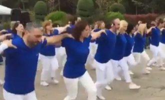 Σάλος στην Τουρκία για… συρτάκι στα γαλανόλευκα (βίντεο)