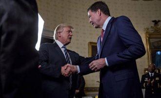Τραμπ: Αποδεδειγμένα ψεύτης ο Κόμεϊ – Τιμή μου που τον απέλυσα