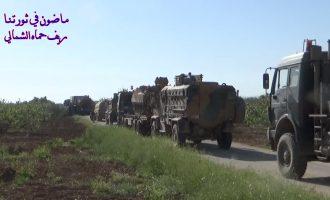 Τουρκική φάλαγγα με 100 οχήματα εισήλθε βαθιά στη βορειοδυτική Συρία (βίντεο+χάρτης)