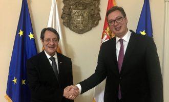 Η Κύπρος δεν αναγνωρίζει το Κόσοβο – Ο Αναστασιάδης ενημέρωσε τον Βούτσιτς για την τουρκική επιθετικότητα
